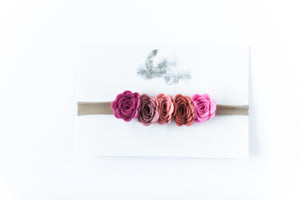 Load image into Gallery viewer, Flower Crown Headband // Pink Ombre