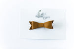 Leather Bow Clip // Mustard