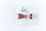Leather Bow Clip // Rose Gold