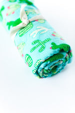 Flannel Swaddle Blanket // Cactus