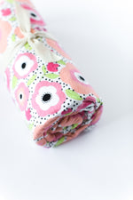 Flannel Swaddle Blanket // Floral