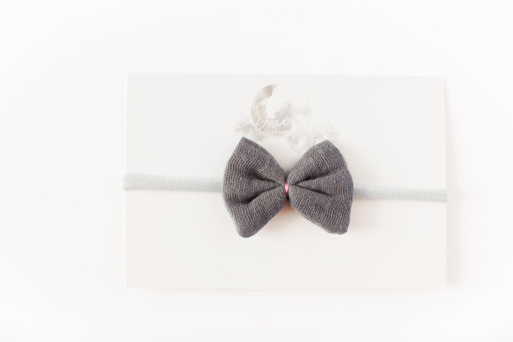 Load image into Gallery viewer, Gauze Bow Headband // Grey