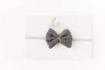 Gauze Bow Headband // Grey