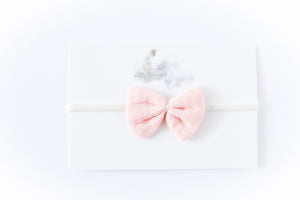 Gauze Bow Headband // Blush