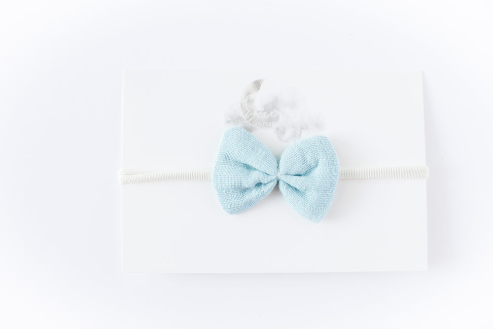 Load image into Gallery viewer, Gauze Bow Headband // Sea