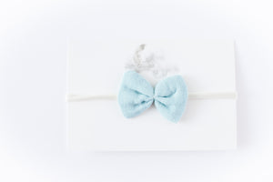 Gauze Bow Headband // Sea