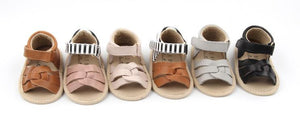 Load image into Gallery viewer, Isla Stripe Sandals // Blush