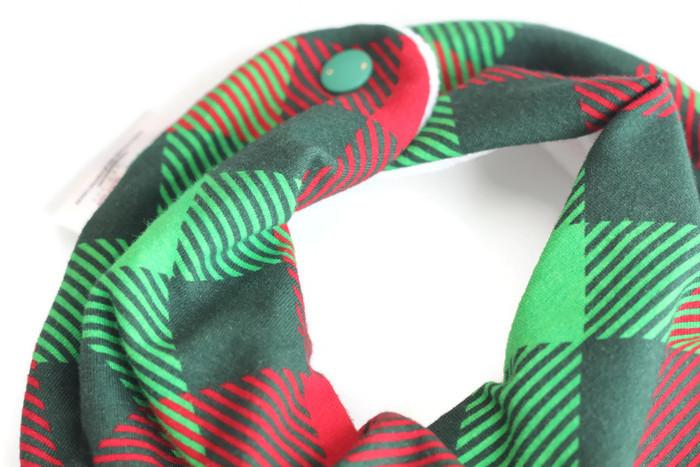 Baby Bandana Bib // Christmas Plaid