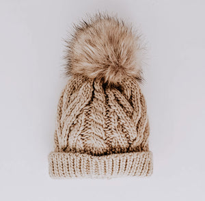 Knit Pom Pom Beanie // Pop Birch