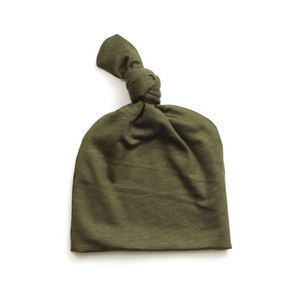 Top Knot Baby Hat // Olive (0-3 months)