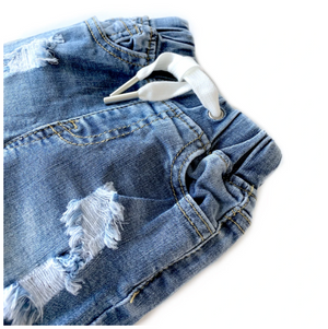 RESTOCK! Shorts // Distressed Denim
