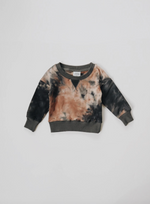 Acid Wash Crew Sweatshirt // Granite