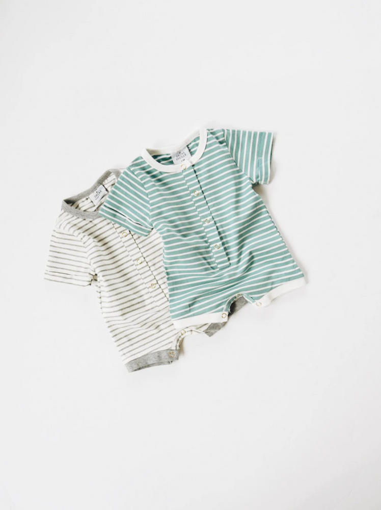 Load image into Gallery viewer, Shortie Romper // Ocean Stripe