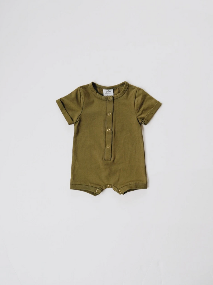 Load image into Gallery viewer, Shortie Romper // Moss