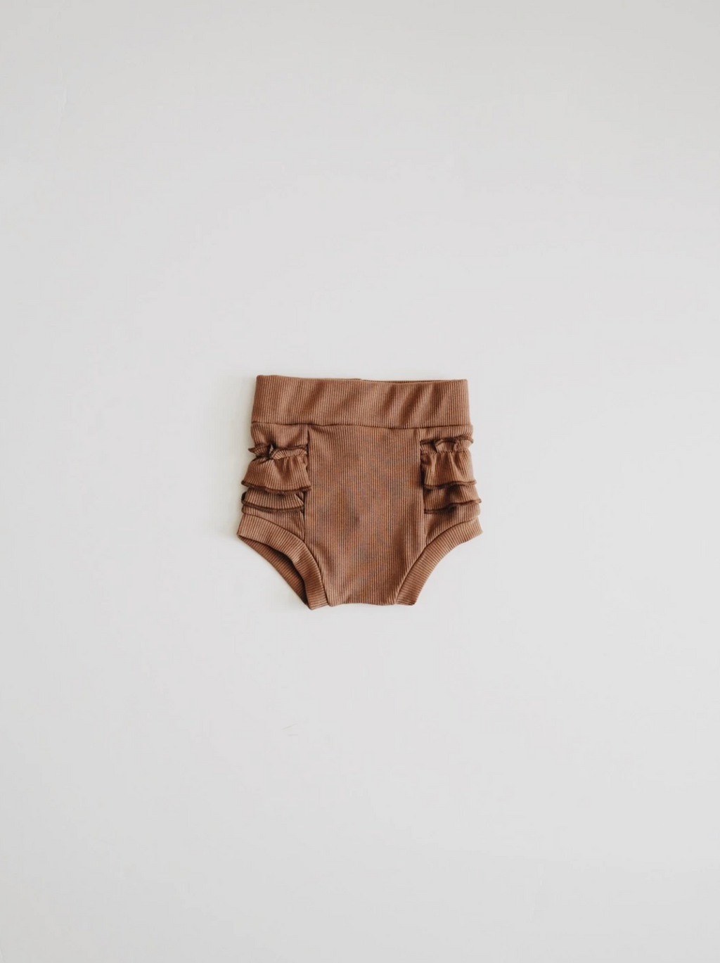 Ribbed Ruffle Bloomer // CHOCOLATE