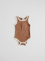 Ribbed Bodysuit // CHOCOLATE