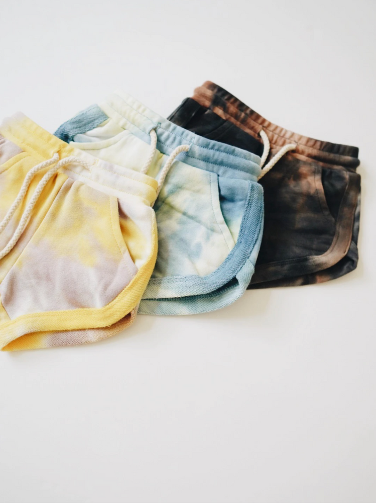 Acid Wash Track Shorts // Granite