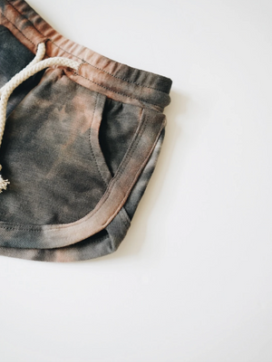Load image into Gallery viewer, Acid Wash Track Shorts // Granite