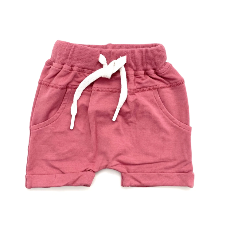 Rolled Harem Shorts // Dusty Rose