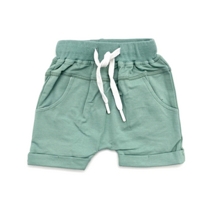 Rolled Harem Shorts // Seafoam Grey