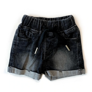Load image into Gallery viewer, Denim Shorts // Black