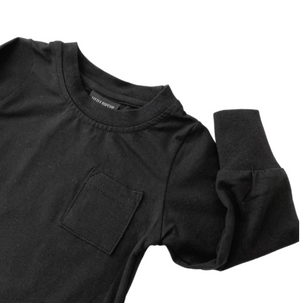 Load image into Gallery viewer, Long Sleeve Pocket Tee // BLACK