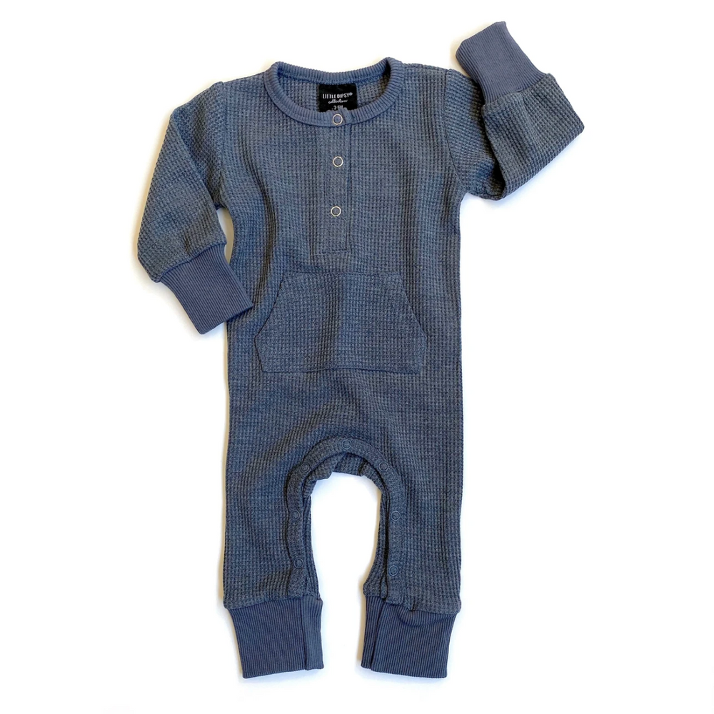 Load image into Gallery viewer, Thermal Romper // Navy