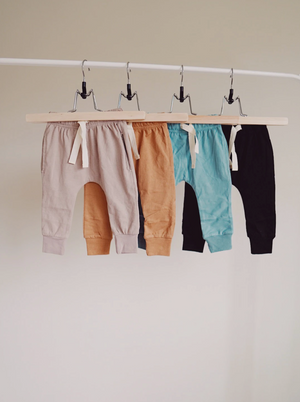 Brushed Cotton Joggers // Teal