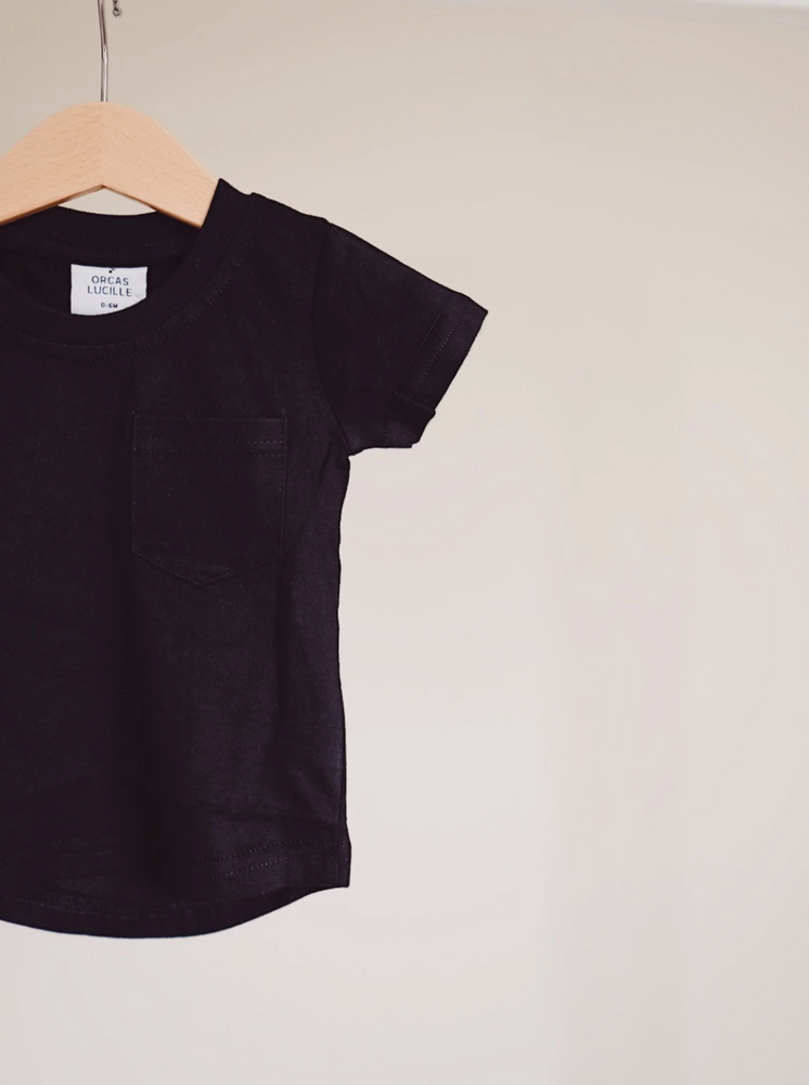 Load image into Gallery viewer, Brushed Cotton Tee // Black