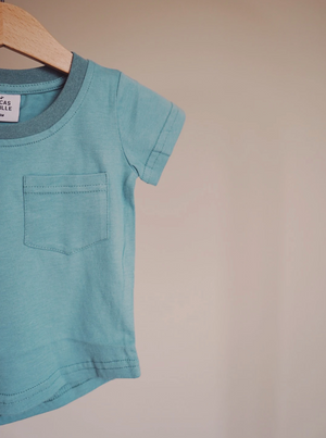 Brushed Cotton Tee // Teal