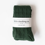 Cable Knit Tights // Forest Green