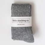 Cable Knit Tights // Gray