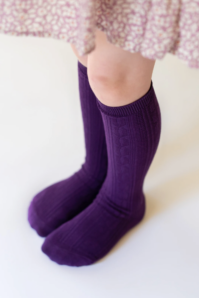 Knee High Socks // Purple Plum