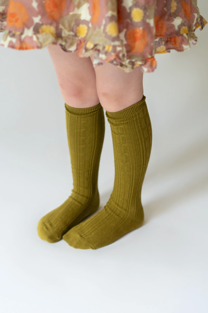 Knee High Socks // Bright Olive Green