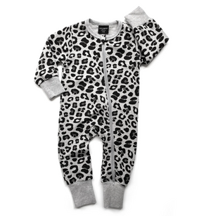 2-WAY LEOPARD ZIP ROMPER // GREY