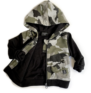Load image into Gallery viewer, Zip Hoodie // Camo