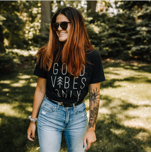 "MAMA // ""Good Vibes Only"" Tee // Black"