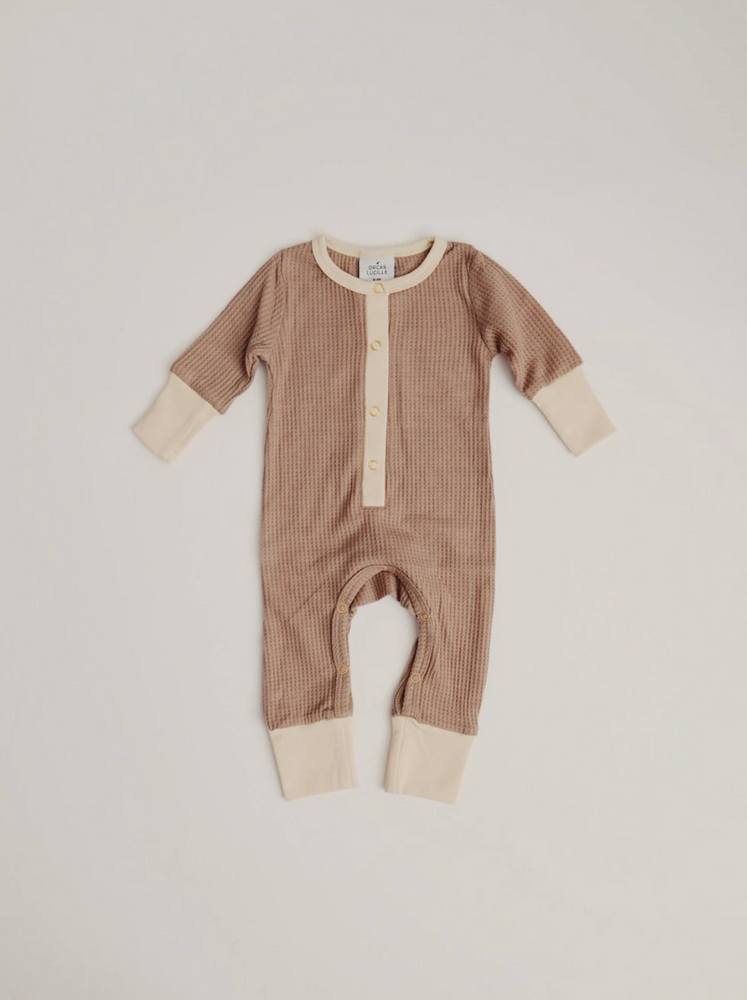 Load image into Gallery viewer, Waffle Romper // Taupe (2020)