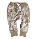 Tie Dye Joggers // Taupe