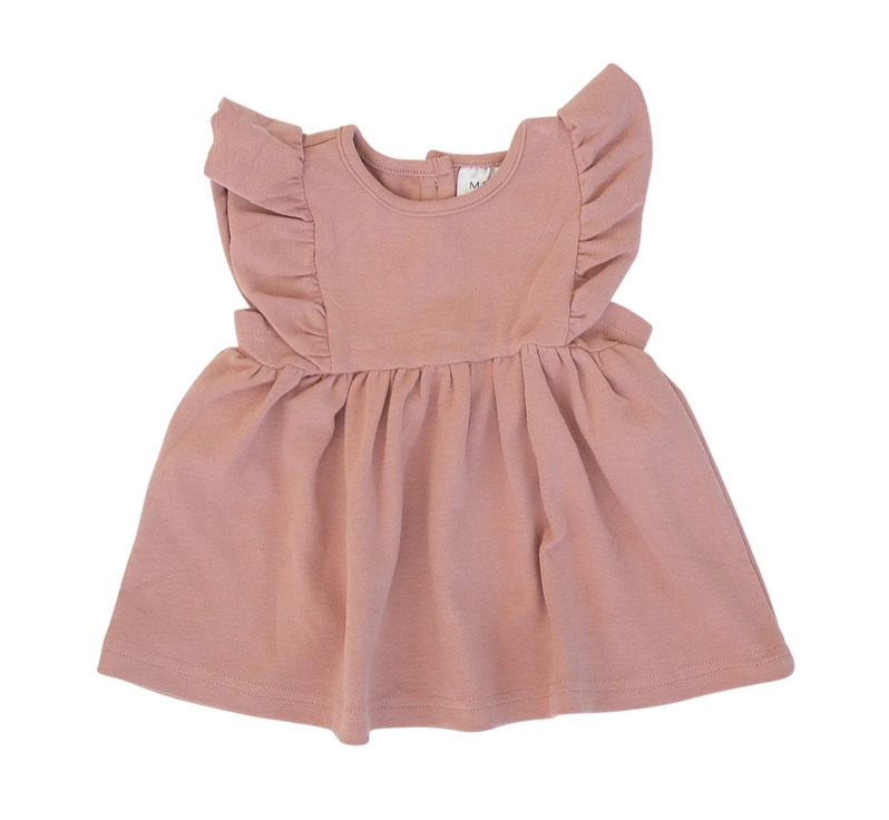 Load image into Gallery viewer, Cotton Ruffle Dress // Rose