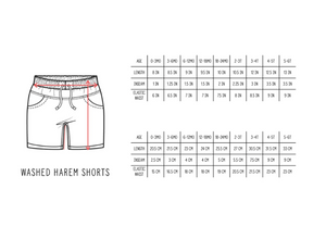 Load image into Gallery viewer, Washed Harem Shorts // Plum