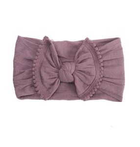 Pom Pom Knot Headband // Dusty Rose