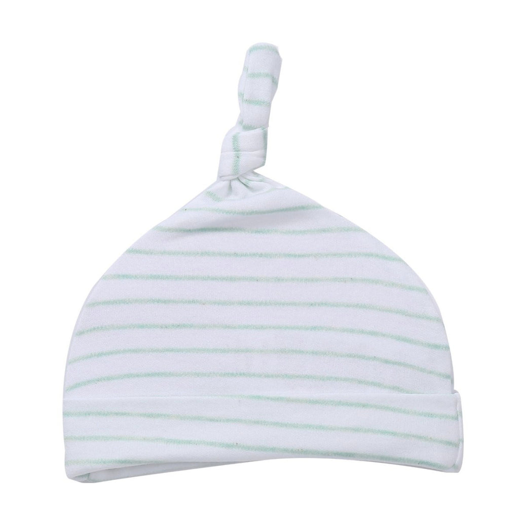 Top Knot Hat // Minted Stripe