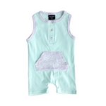 Shorty Romper // Mint // 9-12 MONTH