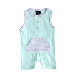 Load image into Gallery viewer, Shorty Romper // Mint