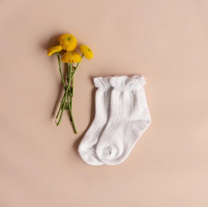 Load image into Gallery viewer, Ruffle Anklet Sock // White