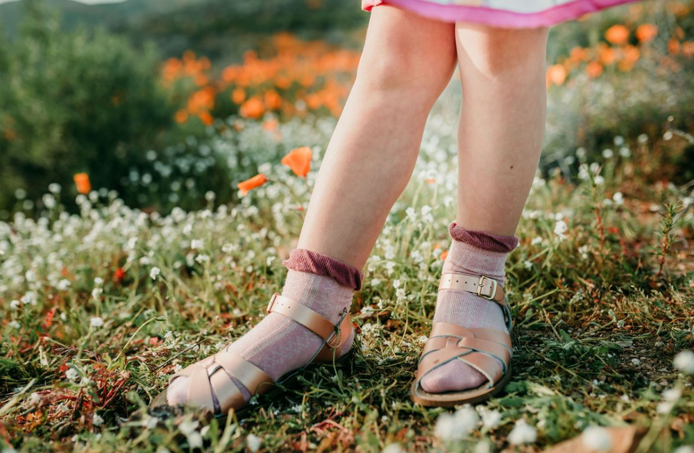 Load image into Gallery viewer, Ruffle Anklet Sock // Two-Tone Mauve