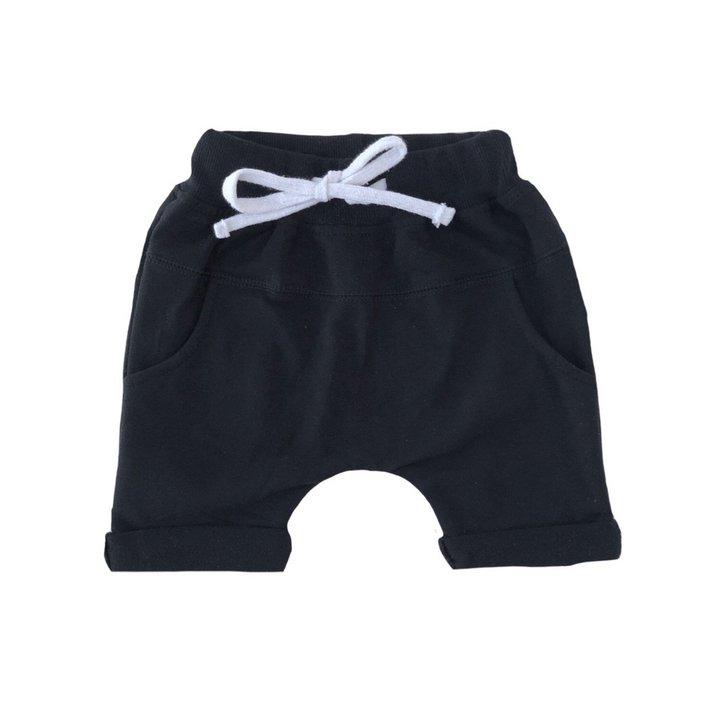 Rolled Harem Shorts // Black