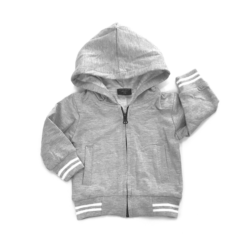Hooded Sports Jacket // Solid Gray