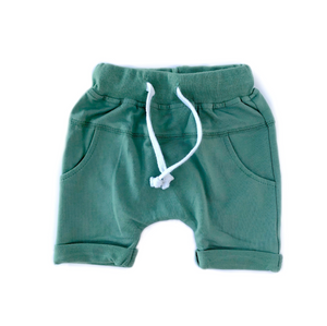 Rolled Harem Shorts // Sage